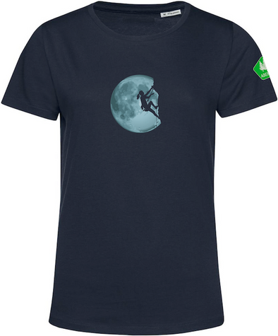 W's Freestyle Organic Cotton Crew Girl in the Moon