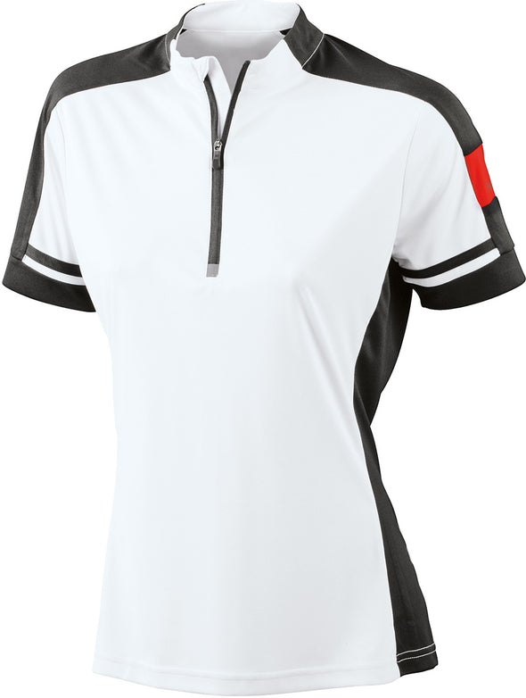 W's Bikewear Short Sleeve Performance Half Zip James & Nicholson