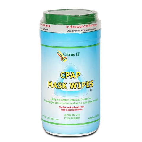 Citrus II CPAP Mask and Machine Cleansing Wipes