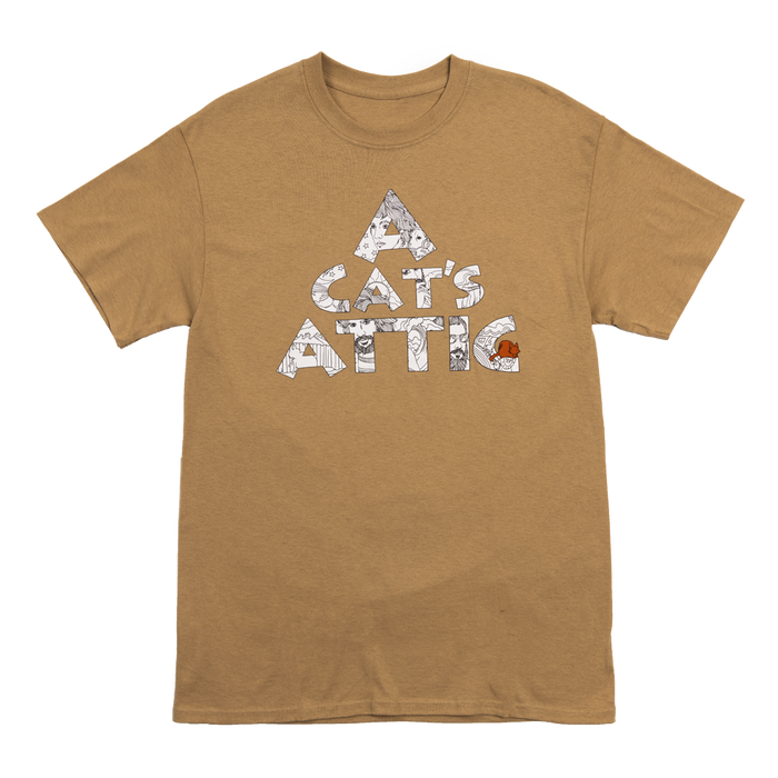 A Cat's Attick Tour T-Shirt (Tan)-Cat Stevens