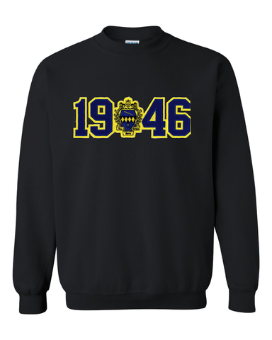 Tau Beta Sigma - Founding Date Stitch Letter Sweatshirt