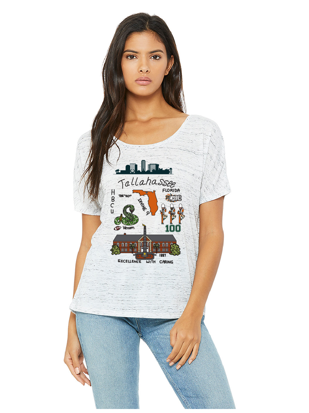 Tallahassee Print (A&M) - Women's Slouchy Tee