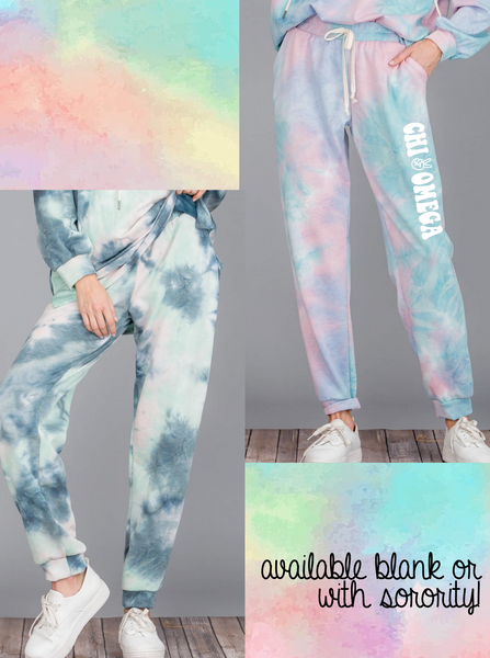 Tie-Dye High Wasted Sweatpant Joggers