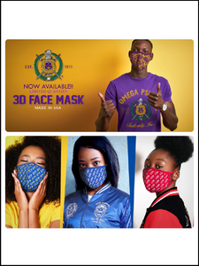 Divine 9 - Fraternity/Sorority Premium Face Mask w/filter pocket