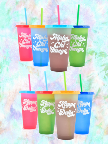 Sorority Gifts - Color Changing Cups