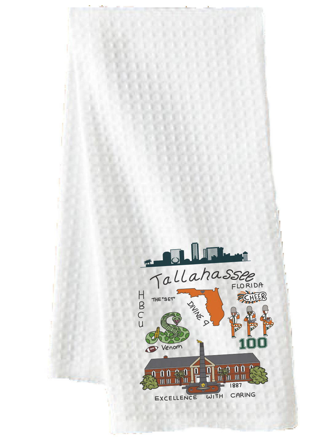 Tallahassee Print (A&M) - Tea Towel