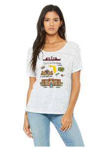 Tallahassee Print (STATE) - Women's Slouchy Tee