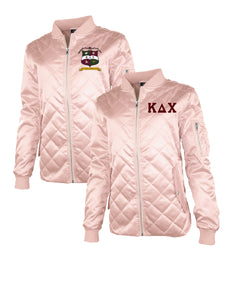 KDChi - Satin Light Pink Bomber Jacket