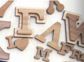 Paddle Wood Letters - Small 1""