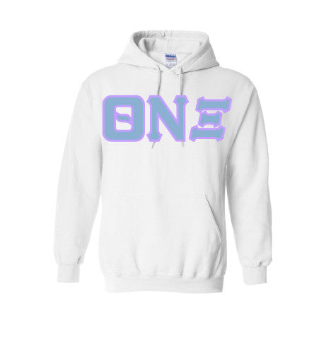 Theta Nu Xi - Stitch Lettered Hoodie