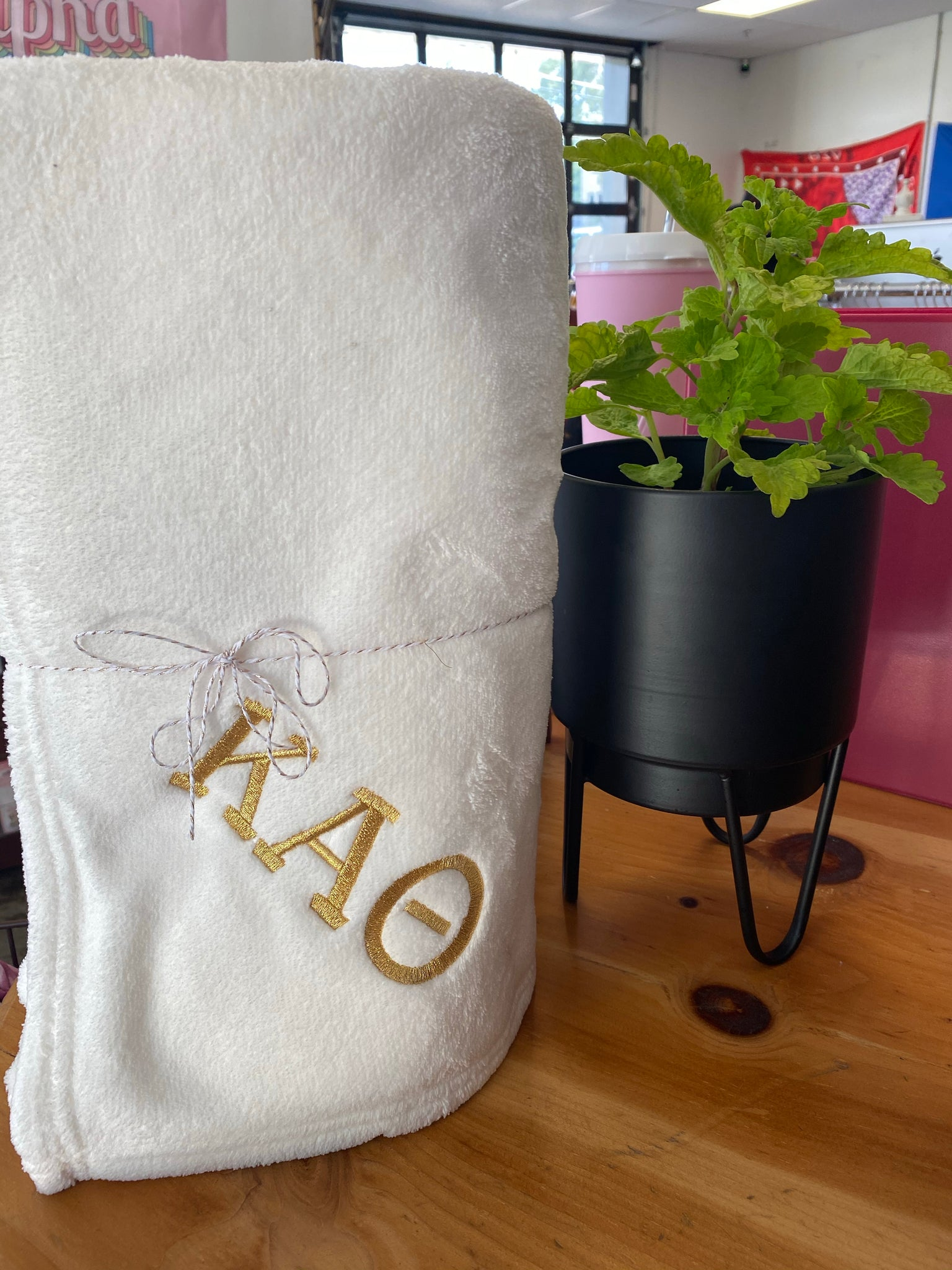 Sorority Embroidered Blanket