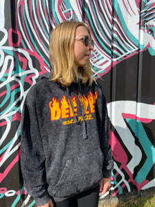 Fiery Fiona Marble Washed Hoodie