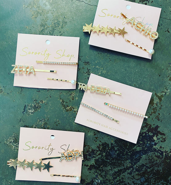 Sorority Gifts - Hair Clips (3 Pack)