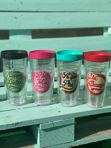 Sorority Gifts - Retro insulated tumblers