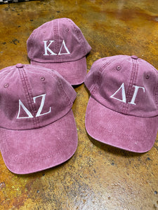 Sorority Gifts - Embroidered Greek Letters Hat
