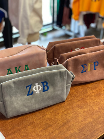 Divine 9 - Sorority Leatherette Toiletry Bag