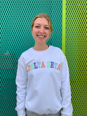 Penny Pastel Sorority Color Block Sweatshirt