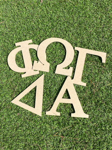 "8"" MDF Wooden Greek Letters"