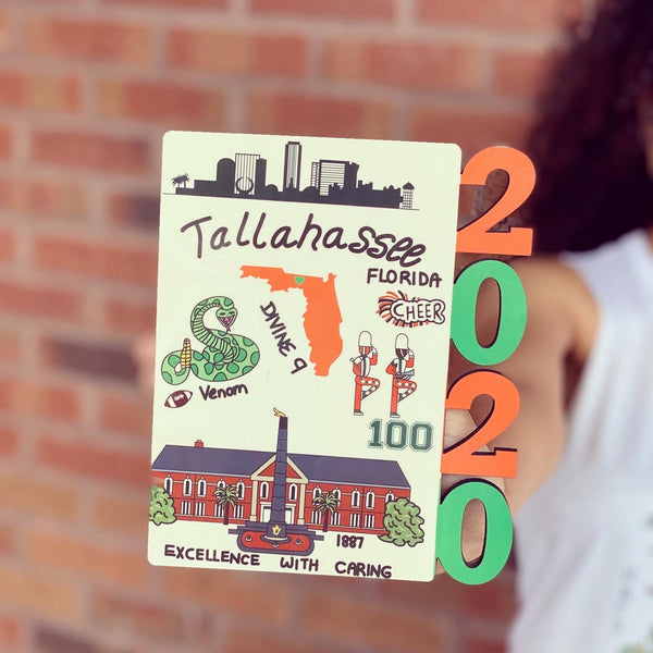 Tallahassee Print (State or A&M) - 2020 Graduate Frame