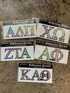 Sorority Gifts - Iridescent Laptop Sticker
