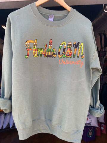 Game Day - Florida A&M Kente Cloth Stitch Sweatshirt