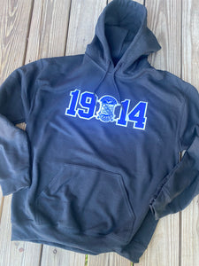 Divine 9 - Stitch Letter Founding Date Hooded Sweatshirt