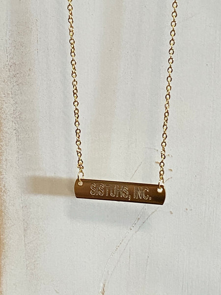 SISTUHS, Inc. Gold Plated Bar Necklace