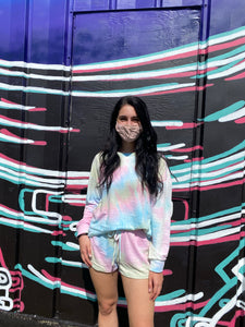 Tie-Dye Loungewear L/S Set - Cotton Candy