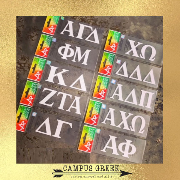 Sorority Gifts - White Car Decal