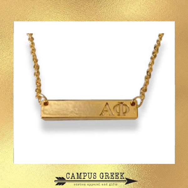 Sorority Jewelry - Bar Design Necklace