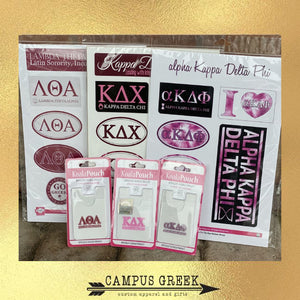 Sorority Gifts - MGC Phone Wallets or Sticker Sets