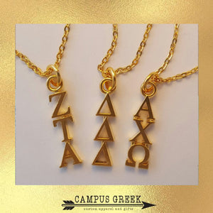 Sorority Jewelry - Gold Lavalier
