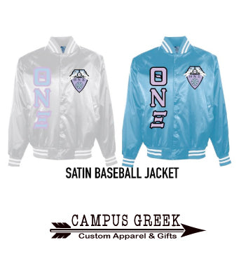 Theta Nu Xi - Satin Baseball Jacket