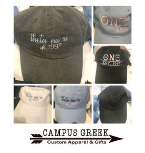 Theta Nu Xi - Sorority Hat (Multiple Options)
