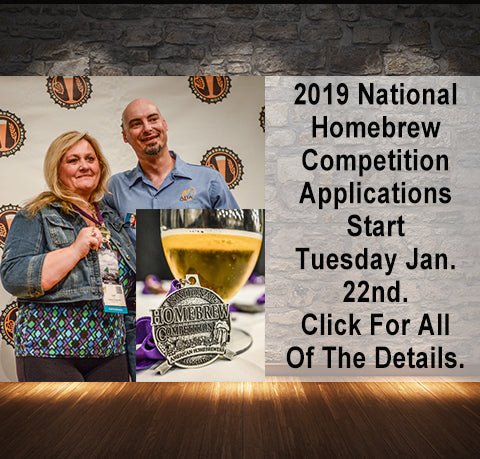 2019 National Homebrew Competition Details