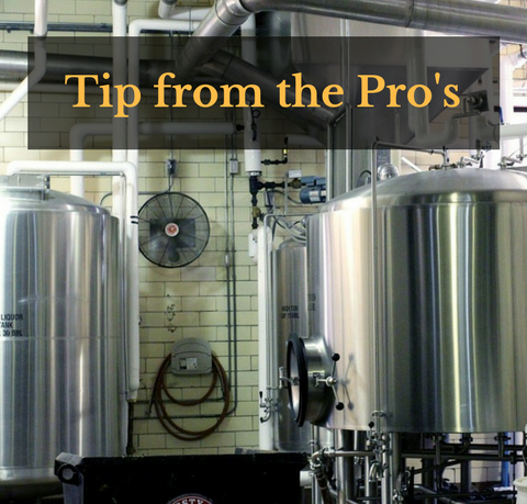 Quick Tip from the Pro. Derek Brown, Head Brewer Tin Whiskers Brewing Co.