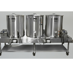 3 vessel all grain brewing system