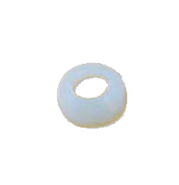 Clear Nylon Flare Washer - 1/4 Inch