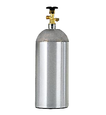 New, Empty 5 Pound Aluminum CO2 Tank