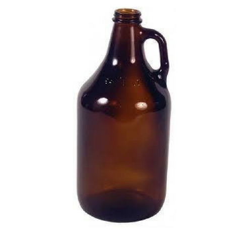 1/2 Gallon Amber Growler Beer Bottle
