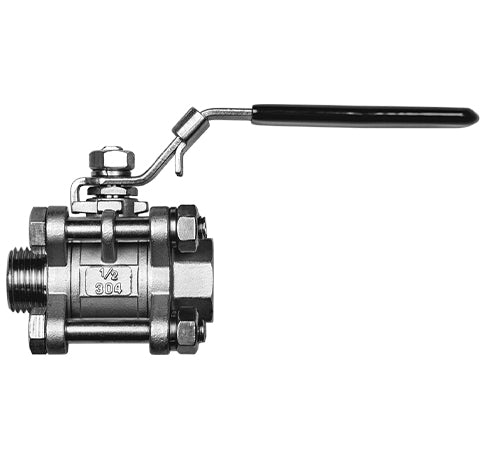 Ball Valve Stainless Steel 3 Piece Spike Brewing