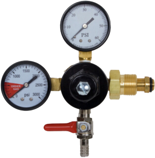 "Cornelius Nitrogen Regulator with 5/16"" Barb Shut-off"