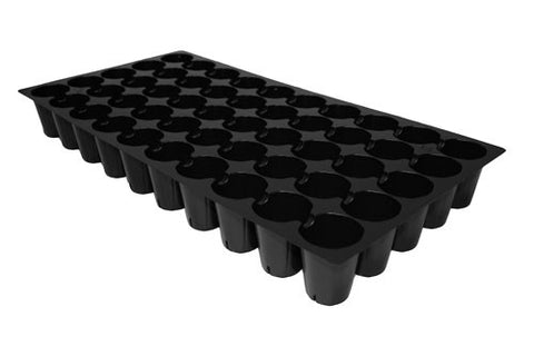 50 Hole Round Black Cell Tray