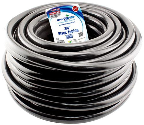3/4 Inch Black Tubing - 1 Foot