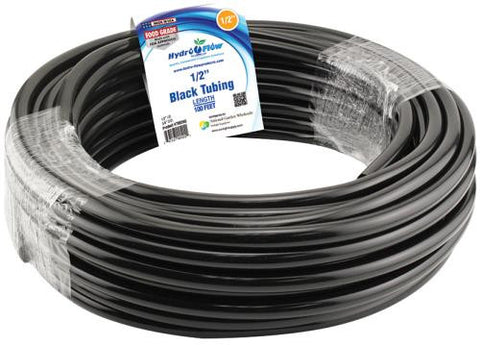1/2 Inch Black Tubing 100 Foot Roll