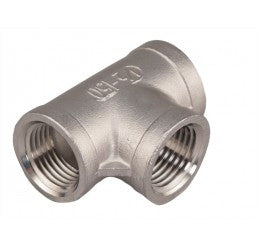 "Tee 1/2"" NPT Stainless Steel"