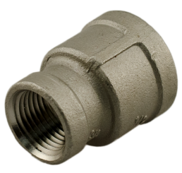 "Coupler Stainless Steel 3/8""FPT to 1/2""FPT"