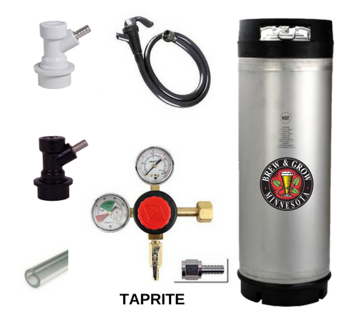 Brand New Rubber Handle Single Keg System with American Made Taprite Regulator
