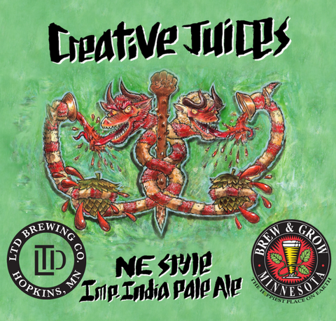 Creative Juices Imperial New England IPA Extract Kit (Collaboration Brew with LTD Brewing Co. Hopkins, MN)