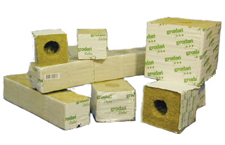 "Grodan 6.5 Gro-Block 4"" w/Hole - STRIP"